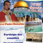 Participe da terceira reunião da Peregrinação a Terra Santa