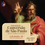 Arquidiocese de São Paulo celebrará seu patrono e aniversário da cidade