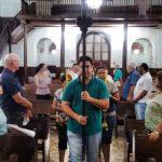 """Fotos da Missa do 1º Dia do Tríduo de São Benedito com o tema: """"Bendito, incansável missionário""""."""