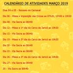 Atividades paroquiais março 2019