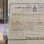 Relíquia da Cruz de Cristo e certificado de autenticação / Foto: Facebook Arquidiocese de Fortaleza