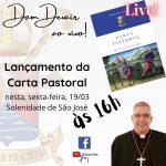 Acompanhe a Live de Lançamento da Carta Pastoral com o Bispo Dom Devair