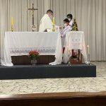 O Tríduo de Nossa Senhora Aparecida já está acontecendo em nossa Capela e tivemos a presença do Padre Henrique Assis (Paróquia São José) celebrando a Santa Missa